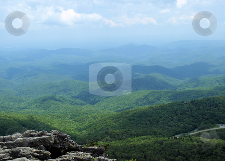 Green valley stock photo, A view of the mountains in western North Carolina from atop Grandfather Mountain by Tim Markley