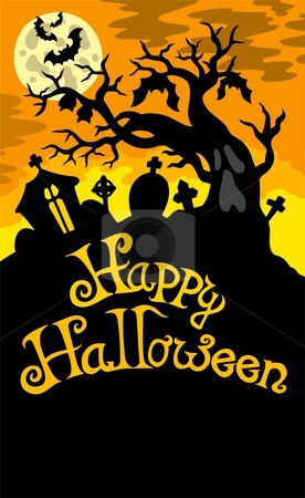 Happy Halloween theme 6 stock vector clipart, Happy Halloween theme 6 - vector illustration. by Klara Viskova