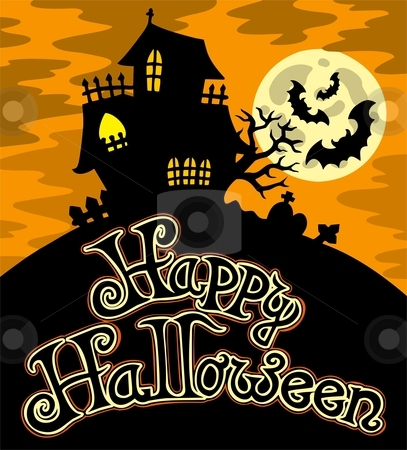 Happy Halloween theme 1 stock vector clipart, Happy Halloween theme 1 - vector illustration. by Klara Viskova