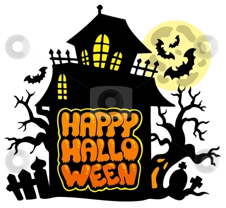 Happy Halloween theme 2 stock vector clipart, Happy Halloween theme 2 - vector illustration. by Klara Viskova