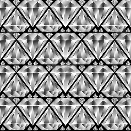 Diamond seamless pattern stock vector clipart, Diamond seamless pattern, abstract texture; vector art illustration by Laschon Robert Paul