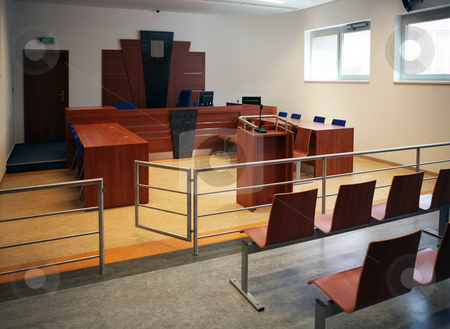 Building of courthouse stock photo, Modern court house building interior, Czech republic by Tomas Hajek