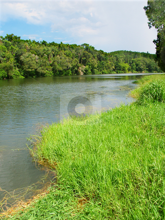 Barron River in Queensland, Australia stock photo, View of the mighty Barron River from Kuranda in tropical Queensland, Australia. by Jason Ross