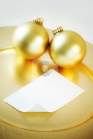 Christmas note stock photo, Christmas note - blank - focus on curl of paper by HD Connelly