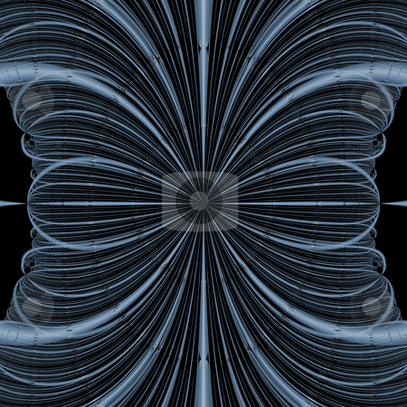 Fractal Blue Blossom stock photo, A blue fractal created by mathematical calculations by OZMedia
