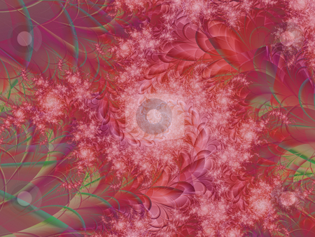 Fractal Pink Flower stock photo, A pink fractal created by mathematical calculations by OZMedia