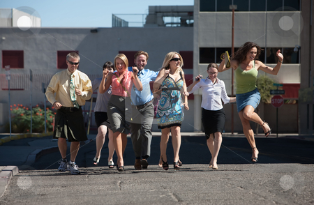 Running keeps you young stock photo, Happy group of people love to have fun and exercise. by Scott Griessel