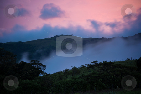 Costa Rica Sunset stock photo, Beautiful Costa Rica evening sunset near Monteverde by Scott Griessel