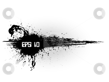 Grunge minimalistic banner in black style stock vector clipart, Grunge minimalistic banner in black style background with splash by Fotosutra.com