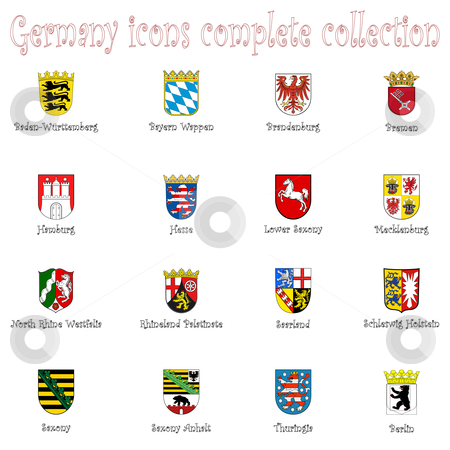 Germany icons collection against white stock vector clipart, Germany icons collection against white background, abstract vector art illustration by Laschon Robert Paul