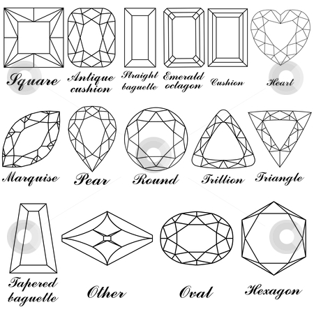 Stone shapes and their names vector stock vector clipart, Stone shapes ...