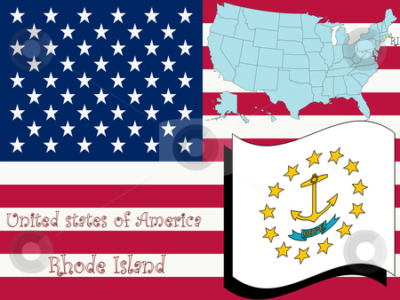 Rhode island state illustration stock vector clipart, Rhode island state illustration, abstract vector art by Laschon Robert Paul