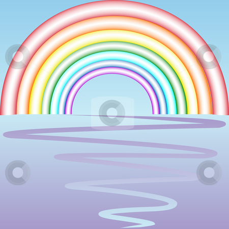 Retro rainbow composition stock vector clipart, Retro rainbow composition, abstract vector art illustration by Laschon Robert Paul