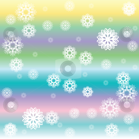 Stripes and white snow flakes stock vector clipart, Stripes and white snow flakes, vector art illustration by Laschon Robert Paul