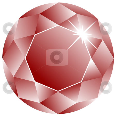 Ruby face against white stock vector clipart, Ruby face against white background, abstract vector art illustration by Laschon Robert Paul