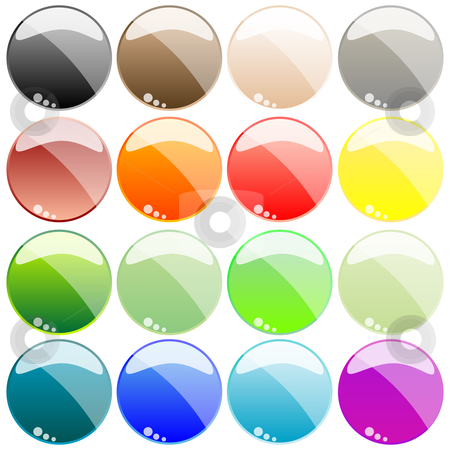 Web buttons isolated on white stock vector clipart, Web buttons isolated on white background, abstract art illustration by Laschon Robert Paul