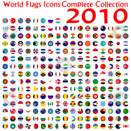 World flags icons collection stock vector clipart, World flags icons collection, abstract vector art illustration by Laschon Robert Paul
