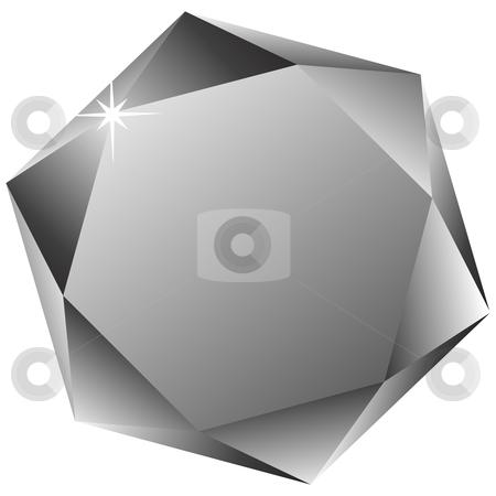 Hexagonal diamond against white stock vector clipart, Hexagonal diamond against white background, abstract vector art illustration by Laschon Robert Paul