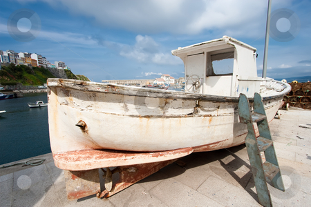 Boat in Malpica, La Coru?a, Spain stock photo, Boat in Malpica, La Coru?a, Spain by B.F.