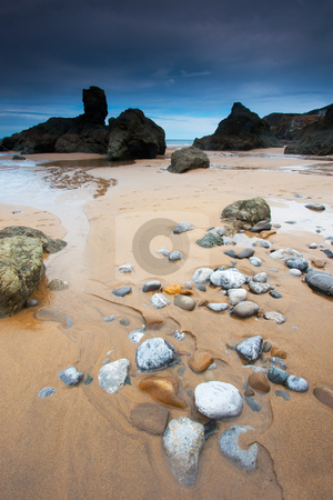 Beach of Bakio , Bizkaia, Spain stock photo, Beach of Bakio , Bizkaia, Spain by B.F.