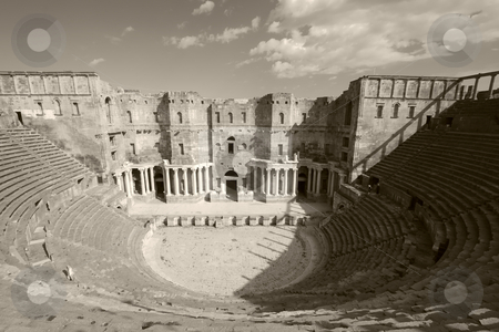 Theather of Bosra, Syria stock photo, Theather of Bosra, Syria by B.F.