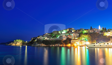 Night image from the island of Skiathos, Greece stock photo, Night picture taken on the Greek island of Skiathos by Andreas Karelias