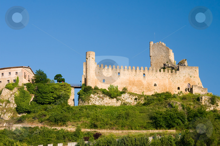Castle of Frias stock photo, Castle of Frias, Burgos (Spain) by B.F.