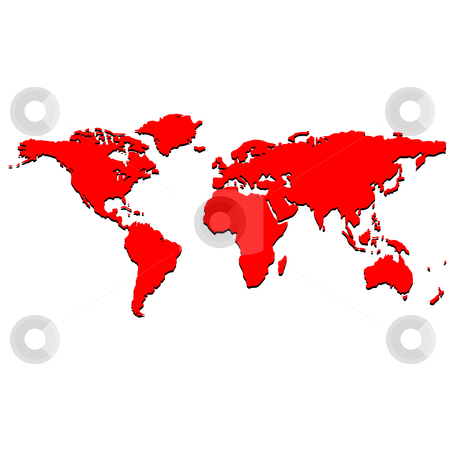world map vector free download. Red world map, vector art