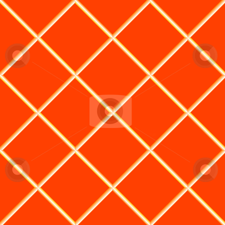 Orange seamless ceramic tiles stock vector clipart, Orange seamless ceramic tiles, abstract texture; vector art illustration by Laschon Robert Paul