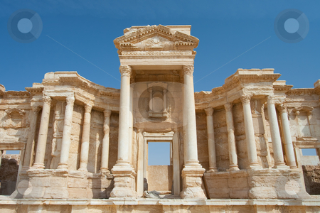 Theater of Palmira stock photo, Theater of Palmira, Syria by B.F.