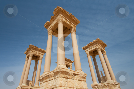 Columns in Palmira stock photo, Columns in Palmira, Syria by B.F.