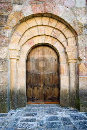 Sanctuary of Leire, Navarra, Spain stock photo, Sanctuary of Leire, Navarra, Spain by B.F.