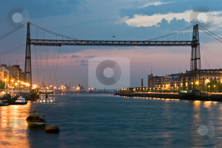 Bridge of Vizcaya, Portugalete, Bizkaia, Spain  stock photo, Bridge of Vizcaya, Portugalete, Bizkaia, Spain by B.F.