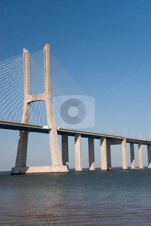 Bridge Vasco de Gama, Lisboa (Portugal) stock photo, Bridge Vasco de Gama, Lisboa (Portugal) by B.F.