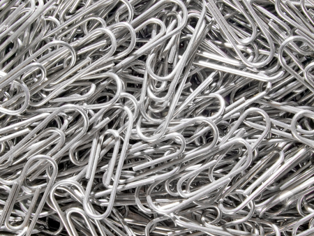 Staples. stock photo, Staples closeup background. by Oleksiy Fedorov
