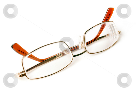 Eyeglasses. stock photo, Eyeglasses isolated on a white background. by Oleksiy Fedorov