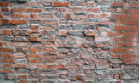 Grunge brickwall stock photo, Grunge abstract brick wall pattern with aged effect by Michael Travers
