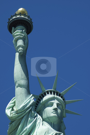 Statue of Liberty stock photo, Statue of Liberty on Liberty Island in New York City, detail photo by Robert Remen