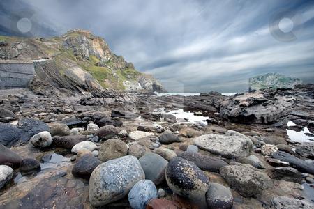 Rocks in San Juan de Gaztelugatxe, Bizkaia, Spain stock photo, Rocks in San Juan de Gaztelugatxe, Bizkaia, Spain by B.F.