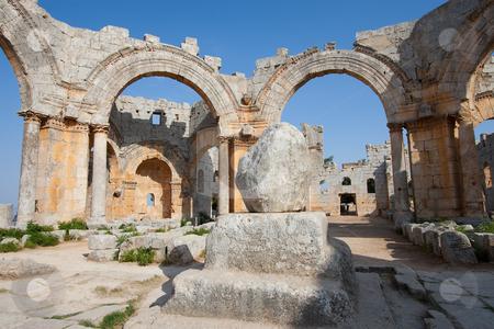 Sanctuary of San Simeon Estilita stock photo, Sanctuary of San Simeon Estilita, Syria by B.F.