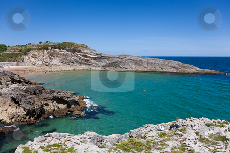 Beach of Sablon, Llanes, Asturias, Spain stock photo, Beach of Sablon, Llanes, Asturias, Spain by B.F.