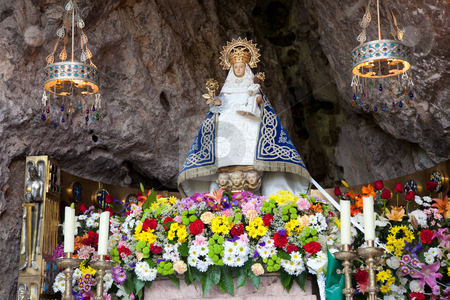 Virgin of Covadonga, Asturias, Spain stock photo, Virgin of Covadonga, Asturias, Spain by B.F.
