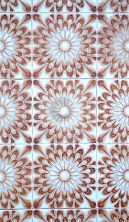 Portuguese glazed tiles. stock photo, Detail of Portuguese glazed tiles. by Homydesign