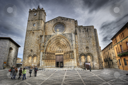Basilica of Castello d 'Empuries stock photo, Castell by Josep M Penalver