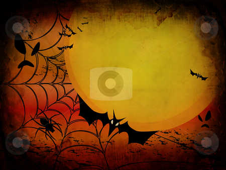 Grunge halloween card or background in orange and red design stock photo, Grunge halloween card or background in orange and red design. Vector also available by fotosutra