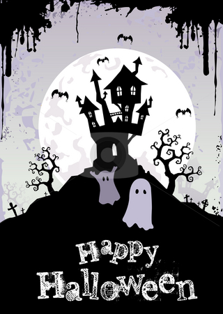Halloween Night stock photo, Halloween vector illustration for autumn holiday event by Giordano Aita