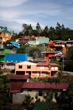 Buildings on a hillside in Santa Elena  stock photo, Buildings on a hillside in Santa Elena Costa Rica by Scott Griessel