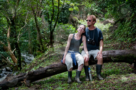 Tourist couple in Costa Rica stock photo, American and European tourist couple in Costa Rica by Scott Griessel
