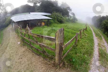 Costa Rican dairy farm stock photo, Rustic Costa Rican dairy farm near Monteverde by Scott Griessel