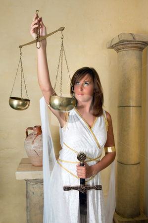 Libra zodiac woman stock photo, Libra or Scales, this photo is part of a series of twelve Zodiac signs of astrology by Anneke